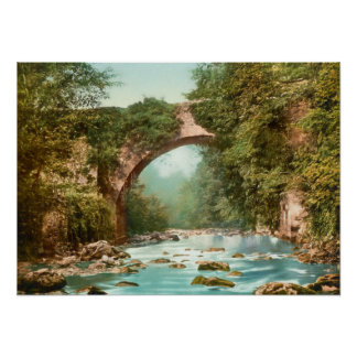 The Dargle Bridge In Ireland Poster