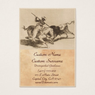 The daring moor Gazul was the first to spear bulls Business Card