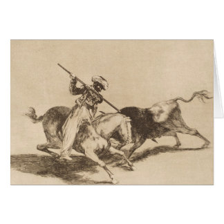 The daring moor Gazul was the first to spear bulls Card