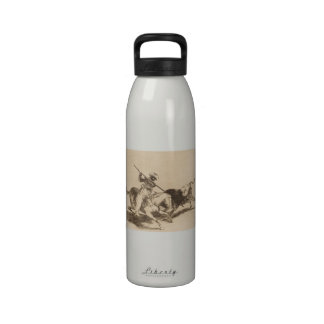 The daring moor Gazul was the first to spear bulls Reusable Water Bottle