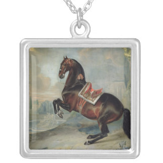 The dark bay horse 'Valido' Silver Plated Necklace
