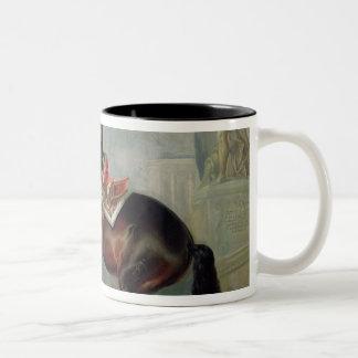 The dark bay horse 'Valido' Two-Tone Coffee Mug