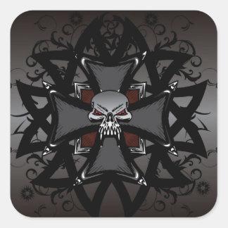 The Dark Cross Square Sticker
