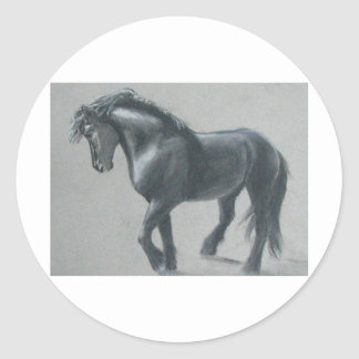 The Dark Horse Classic Round Sticker