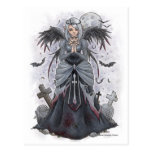 The Dark Priestess Angel Postcard
