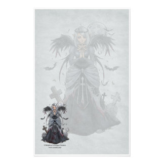 The Dark Priestess Angel Stationery