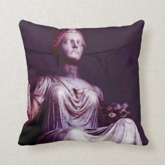 """The Dark Queen"" New Orleans Cemetery Throw Pillow"