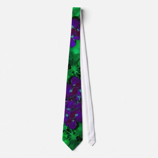 The Dark Side of Geraniums Tie