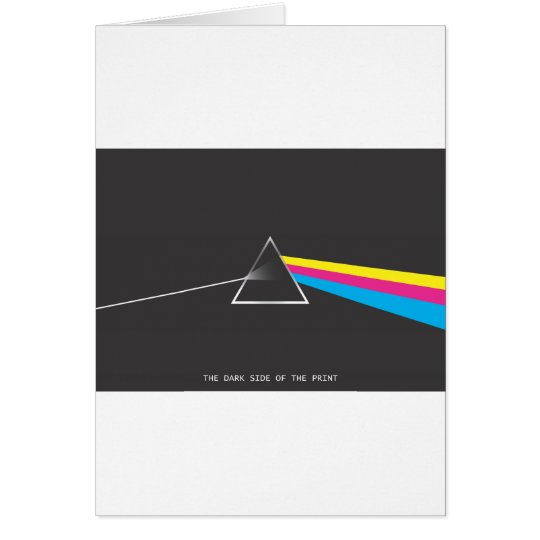 the dark side of the print card
