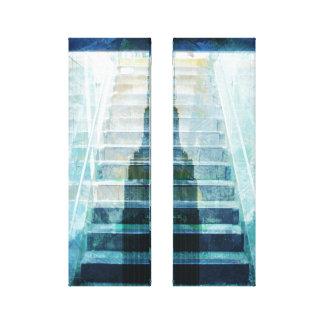 the dark sub to the hight lights - blues canvas print