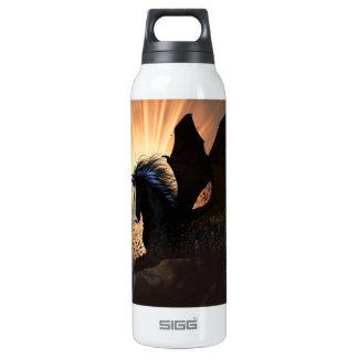 The dark unicorn 16 oz insulated SIGG thermos water bottle