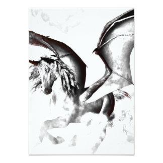 The dark unicorn 5x7 paper invitation card