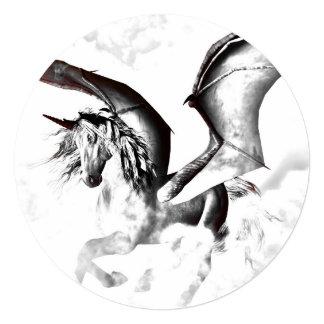 The dark unicorn 5.25x5.25 square paper invitation card