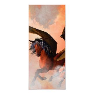 The dark unicorn 4x9.25 paper invitation card