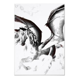 The dark unicorn 3.5x5 paper invitation card