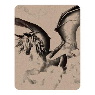 The dark unicorn 4.25x5.5 paper invitation card
