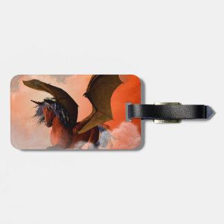 The dark unicorn luggage tags