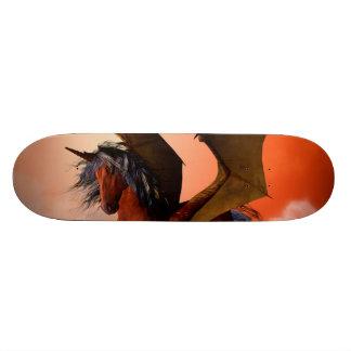 The dark unicorn skate board deck