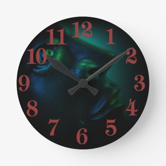 The Darkest Hour Cyan Round Clock
