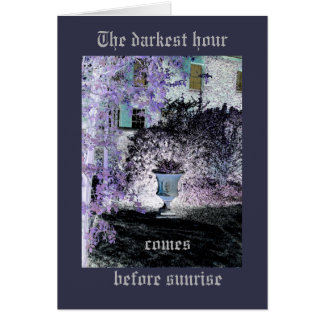 The darkest hour manor house design with border card