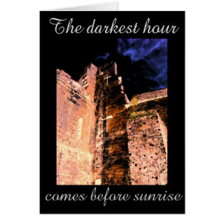 The darkest hour storm and castle with border card