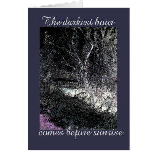 The darkest hour, twigs landscape with border card