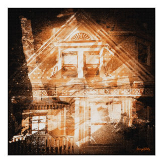 the darkside : san francisco's victorian houses print