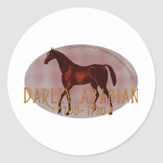 The Darley Arabian Classic Round Sticker