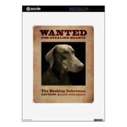 Amazon Kindle DX Skin with Doberman Pinscher Phone Cases design