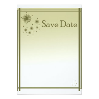 """The Date knows 4.5"""" X 6.25"""" Invitation Card"""