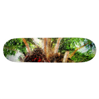 The dates in a palm tree skate deck