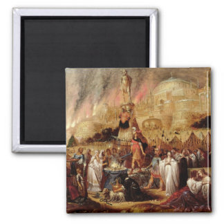 The Daughter of Jephthah, 1643 2 Inch Square Magnet
