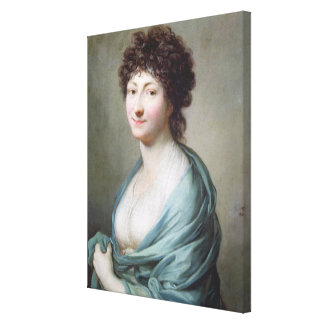 The Daughter: Portrait of Caroline Susanne Graff Canvas Print