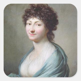 The Daughter: Portrait of Caroline Susanne Graff Square Sticker