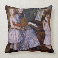 The Daughters of Catulle Mendes at the piano, 1888 Pillows