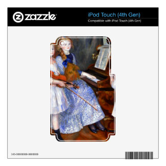 The daughters of Catulle Mendes by Pierre Renoir Decal For iPod Touch 4G