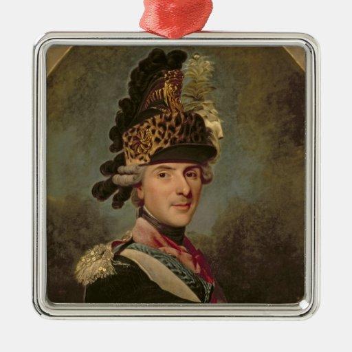 The Dauphin, Louis de France, 1760's Square Metal Christmas Ornament