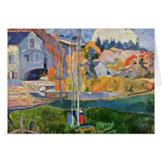 The David-Mill In Pont-Aven By Gauguin Paul Card