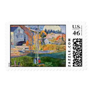 The David-Mill In Pont-Aven By Gauguin Paul Postage Stamps