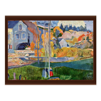 The David-Mill In Pont-Aven By Gauguin Paul Postcards