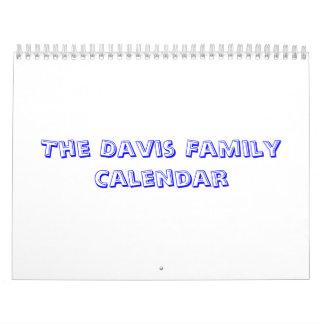 The Davis Family Calendar