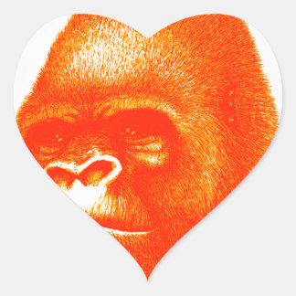 THE DAWN GORILLA HEART STICKER