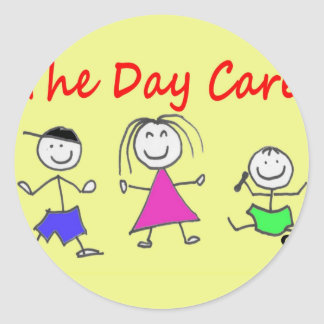 The day care classic round sticker