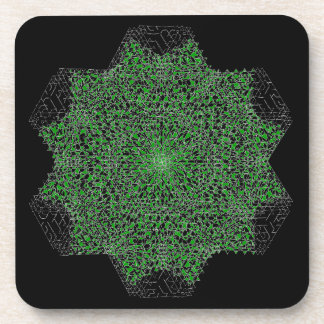 The Day Destroys the Night By Four and Green Drink Coaster