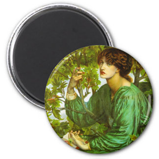 The Day Dream by Dante Gabriel Rossetti 2 Inch Round Magnet