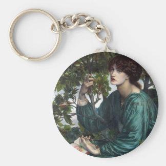 The Day Dream by Dante Gabriel Rossetti Basic Round Button Keychain