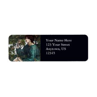 The Day Dream by Dante Gabriel Rossetti Return Address Label