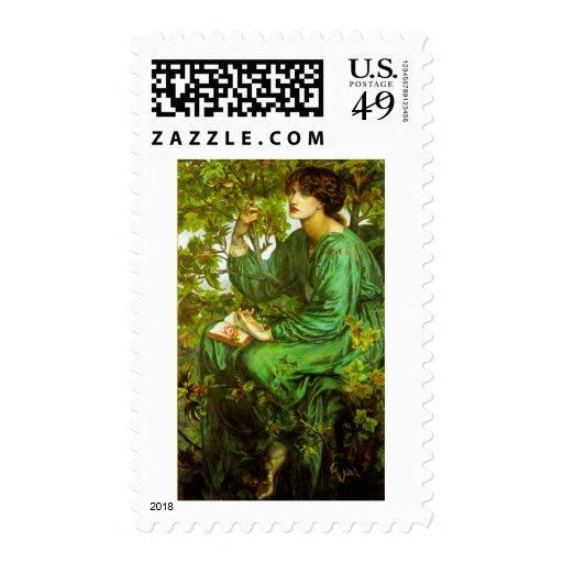 The Day Dream by Dante Gabriel Rossetti Stamp
