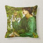 The Day Dream  Pre-Raphaelite Throw Pillow