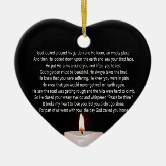 The day God called you home and candle heart shape Christmas Ornament